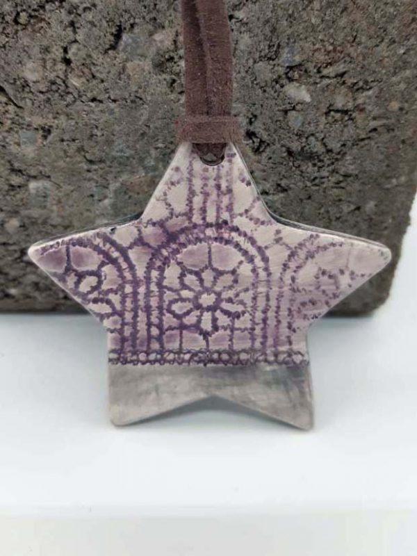 Diffuseur à suspendre étoile violet